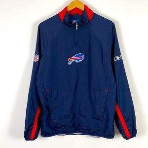 ✨3/$25✨NFL Buffalo Bills 1/4 Zip Pullover Jacket